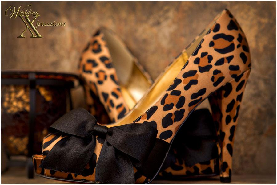 leopard print wedding bridal shoes