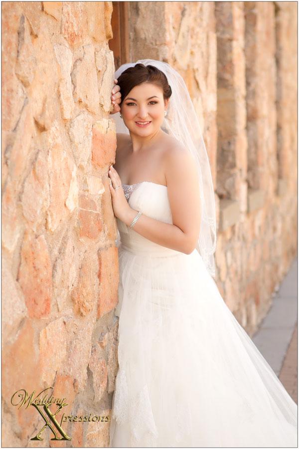 Bride Kayla on her wedding day in El Paso Texas