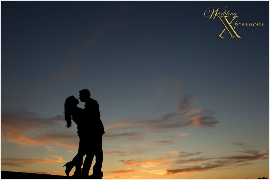 silhouette photography after sunset