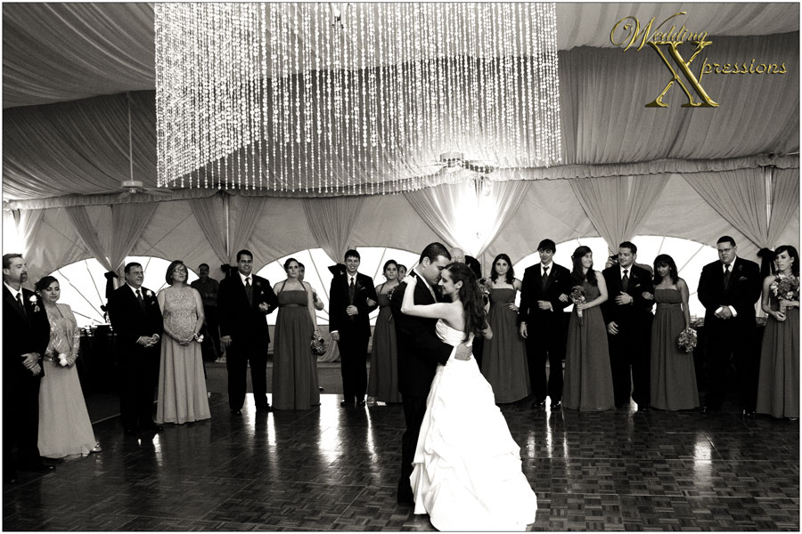 wedding first dance at Grace Gardens in El Paso.