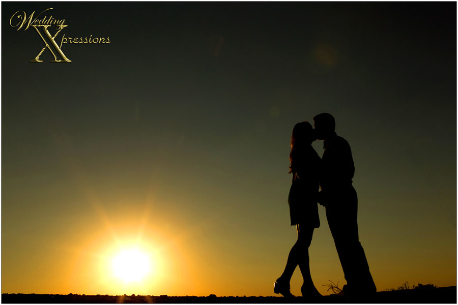 couple silhouette engagement session photography