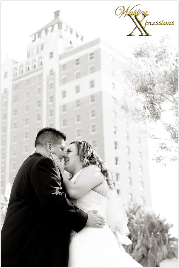 black and white wedding photography downtown