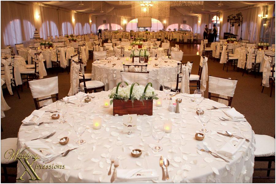 wedding setup at Grace Gardens tent