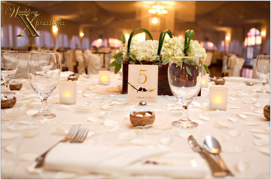 table decorations at Grace Gardens tent
