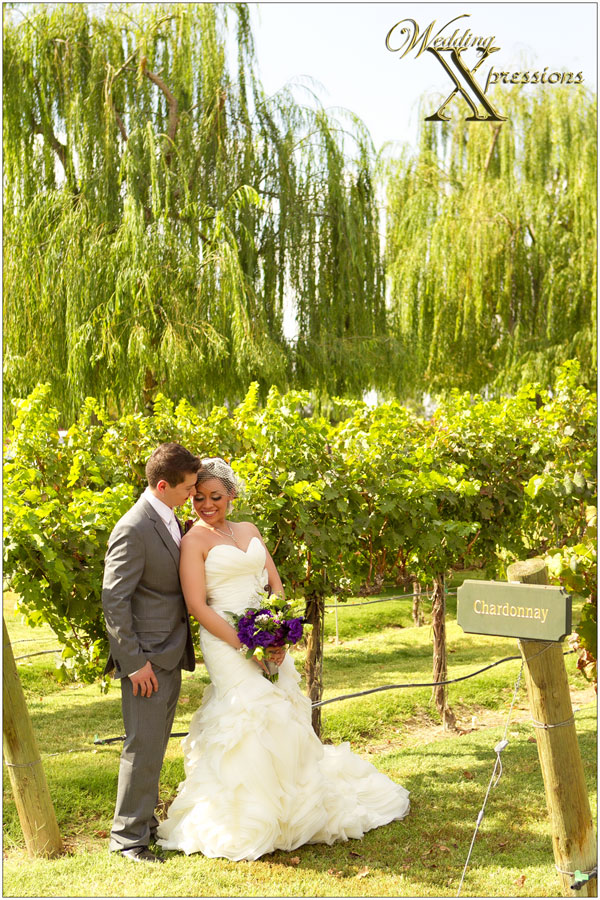 bride and groom winery photo