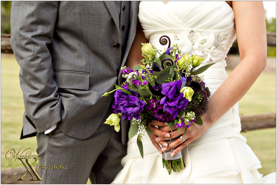 purple bridal bouquet by Fiori of El Paso