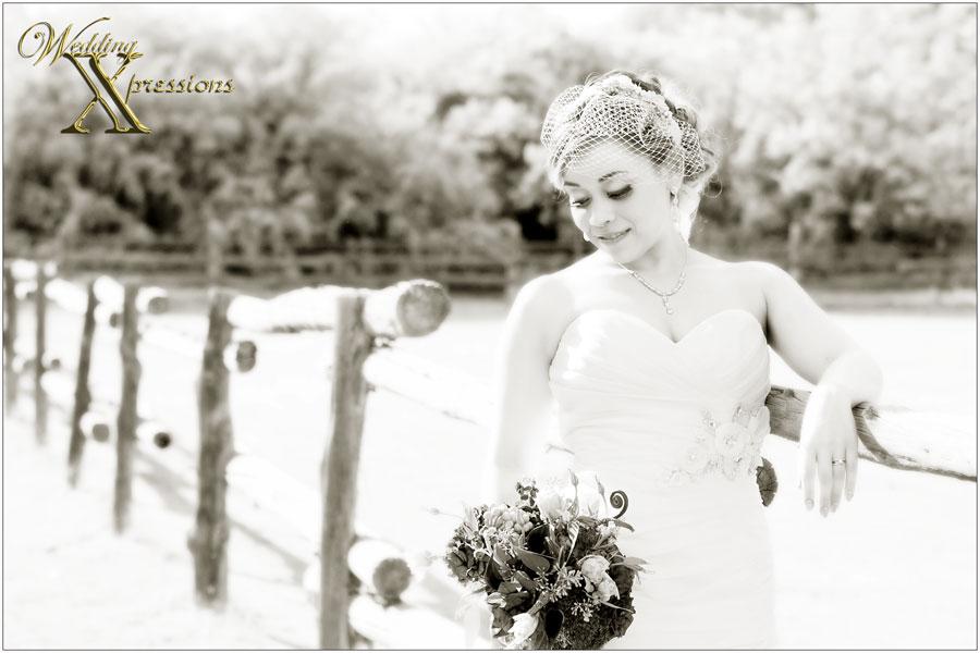 bride Joanna in black and white wedding photography in El Paso, TX