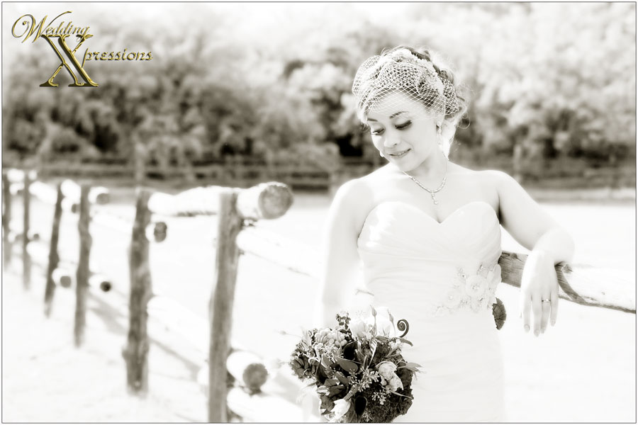 bride Joanna in black and white wedding photography in El Paso, TX