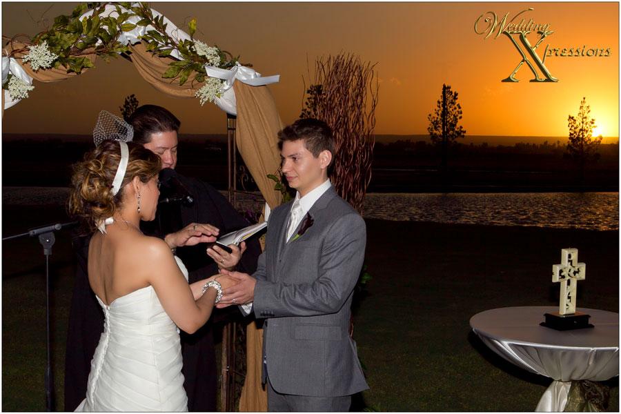 Grace Gardens sunset wedding ceremony