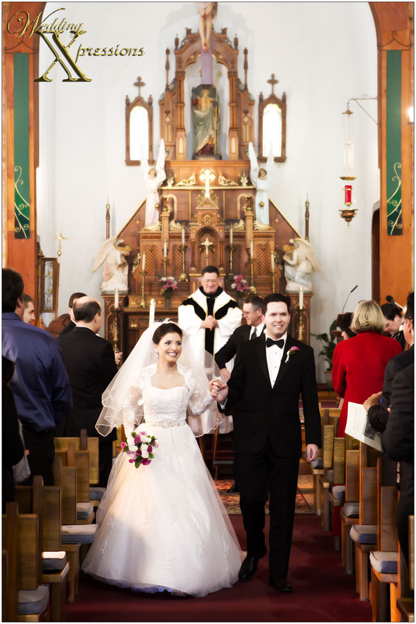 End of wedding ceremony in Old Mesilla