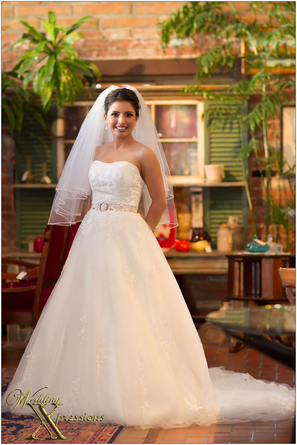 bride Gloria on wedding day