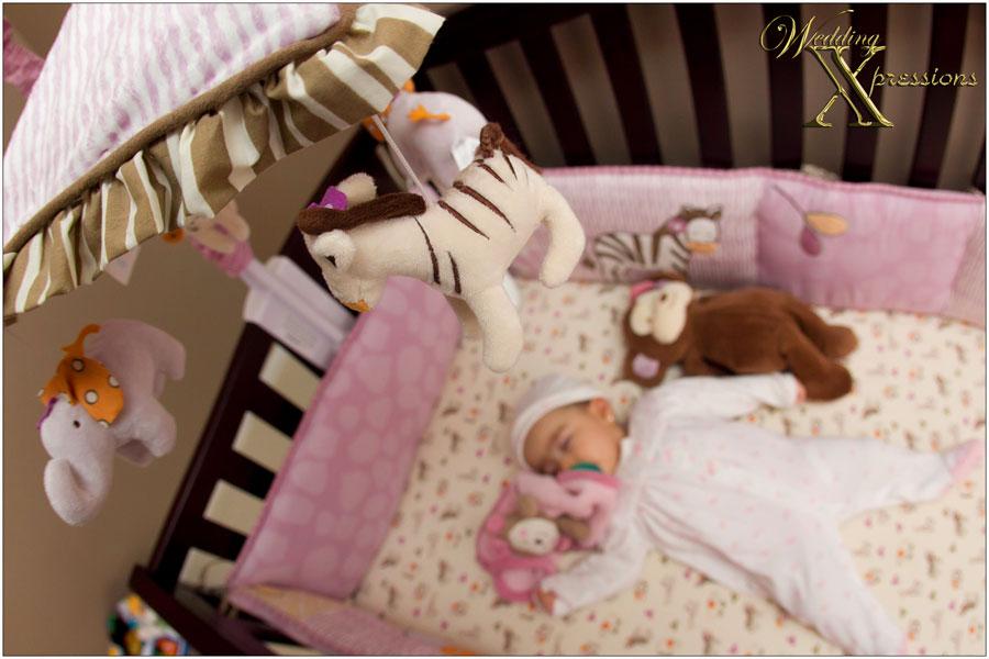 Amaris in crib