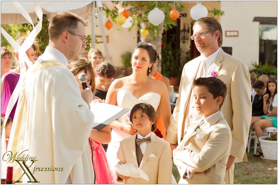 wedding ceremony with kids