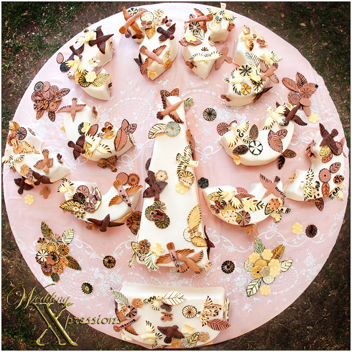 wedding cake designed by bride Margarita