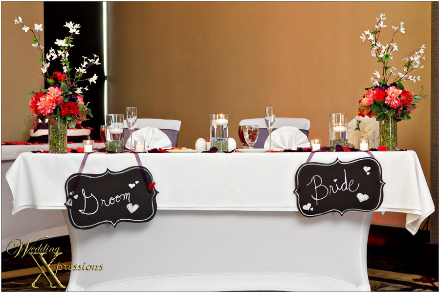 main table at wedding