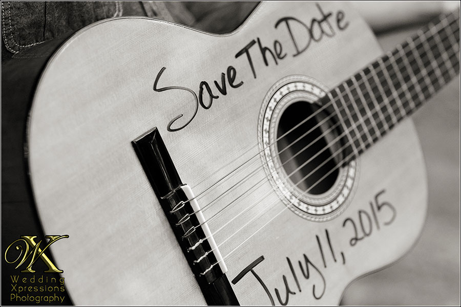 Save the Date on Guitar