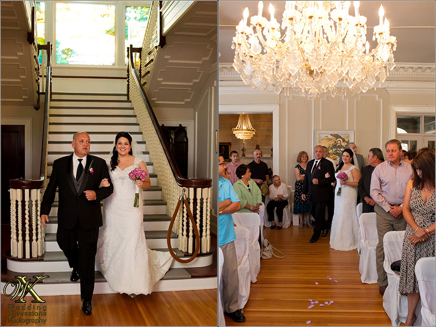 wedding ceremony at the museum
