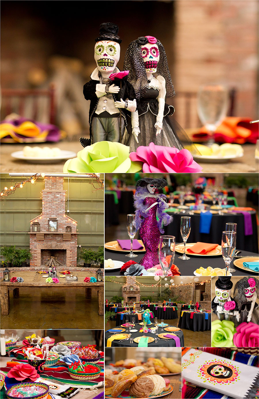 Dia de los Muertos themed wedding