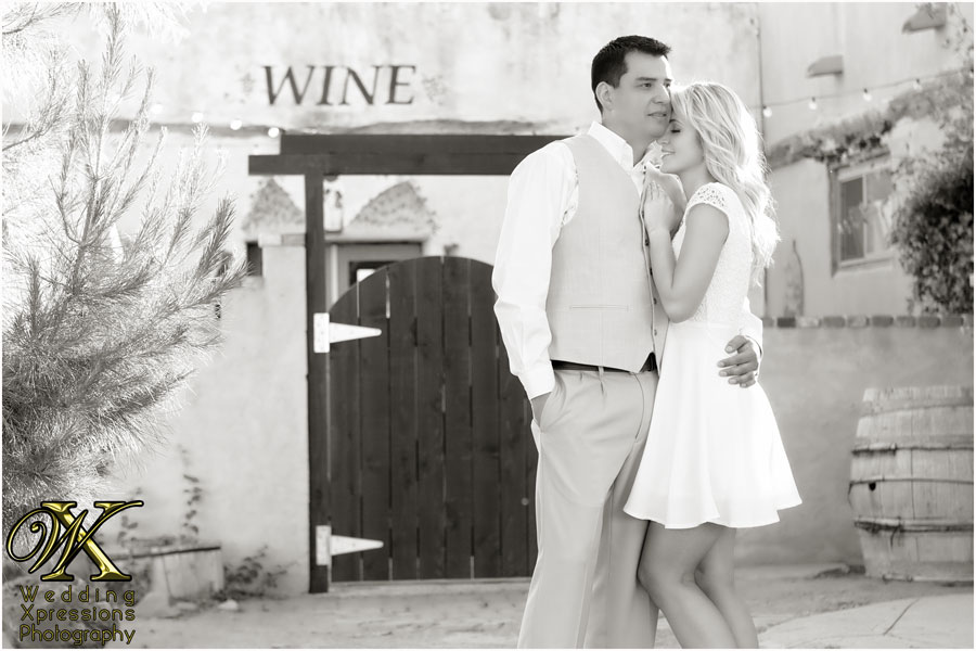 engagement photography at winery