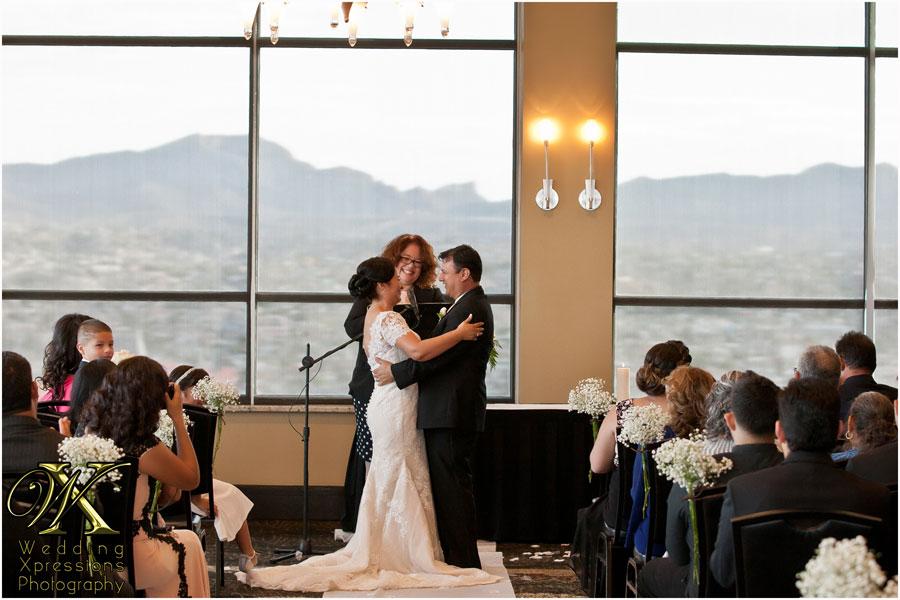 wedding ceremony at Doubletree in El Paso