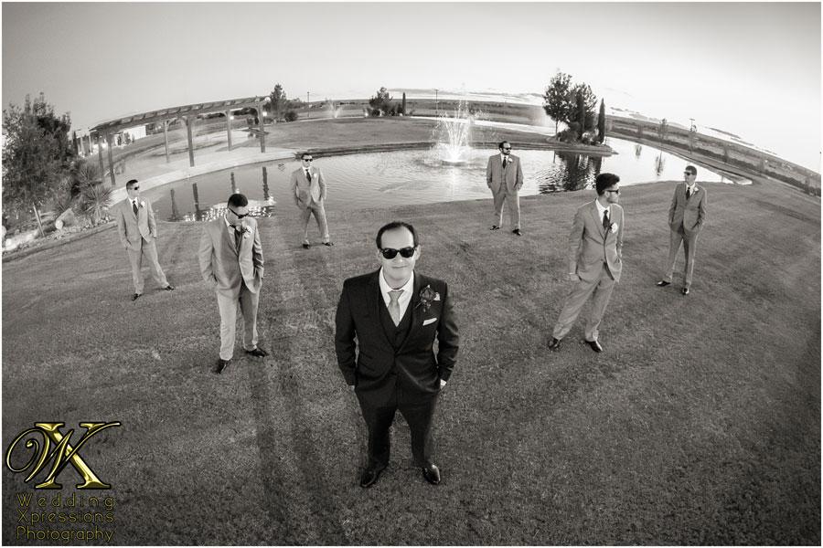 groomsmen at Grace Gardens lake