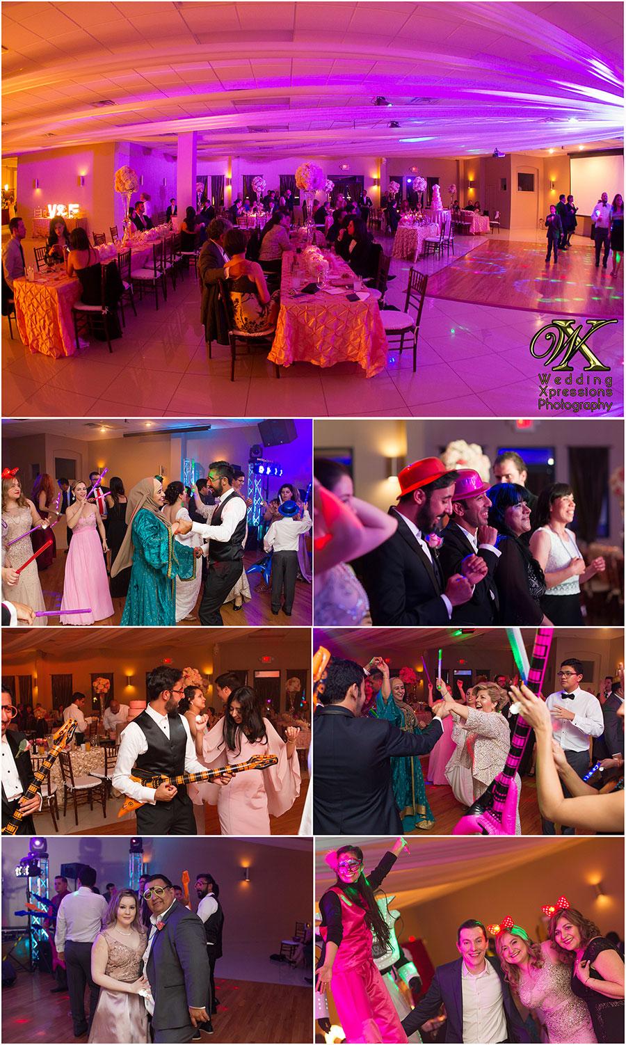 dancing at wedding reception at Selarom Ballroom