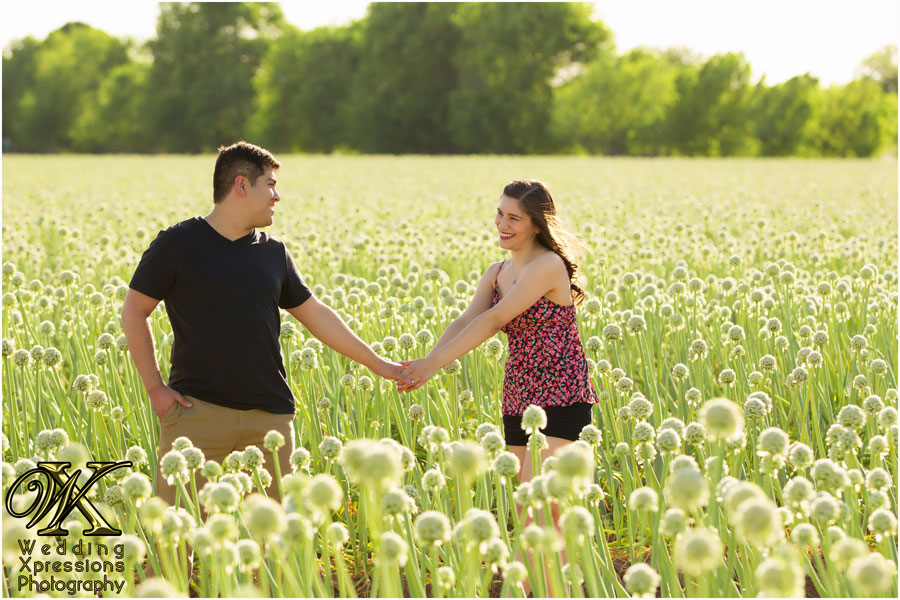 engagement photos in onion field