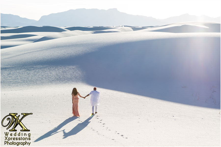 engagement photography in White Sands
