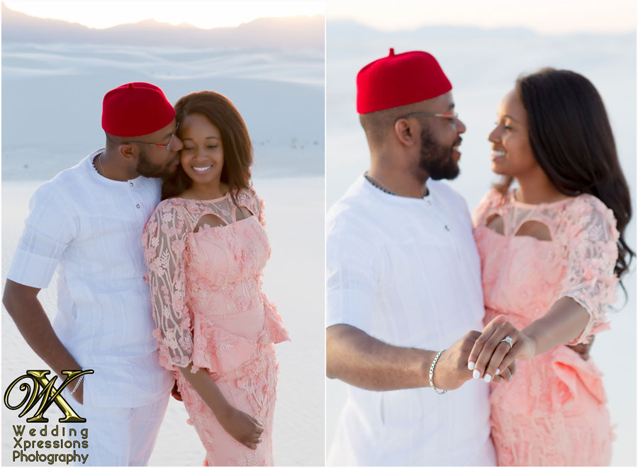 engagement session in traditional Nigerian outfit