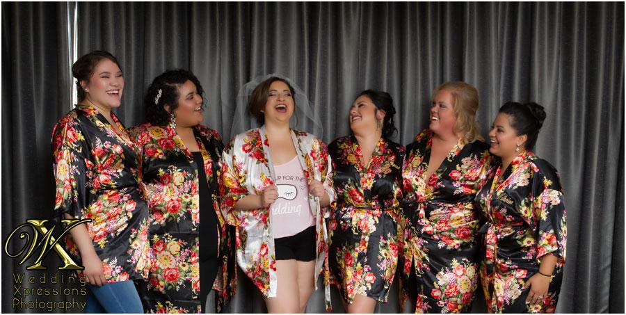 bride with bridesmaides