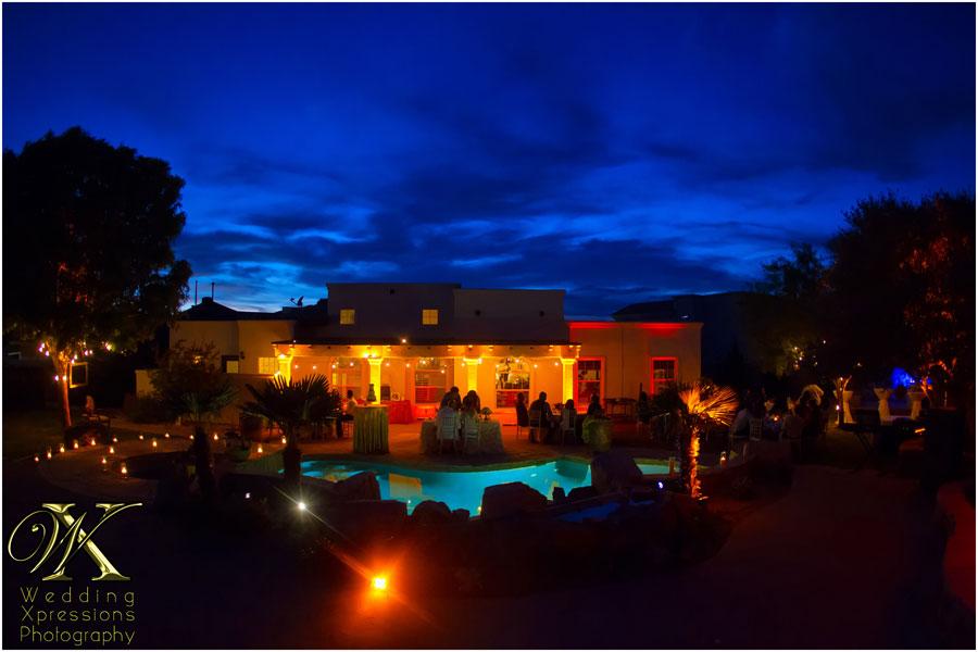 El Paso backyard wedding