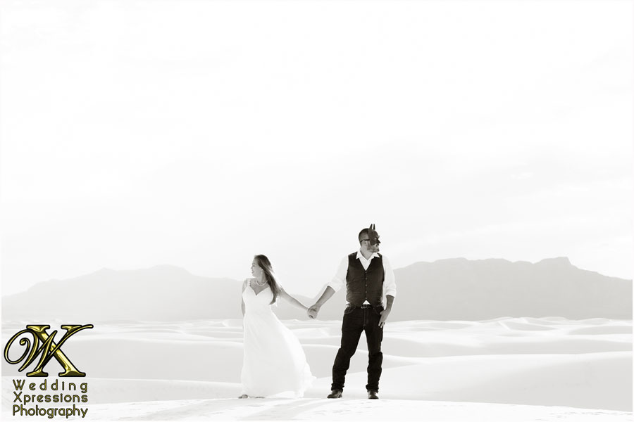 Batman engagement session at White Sands