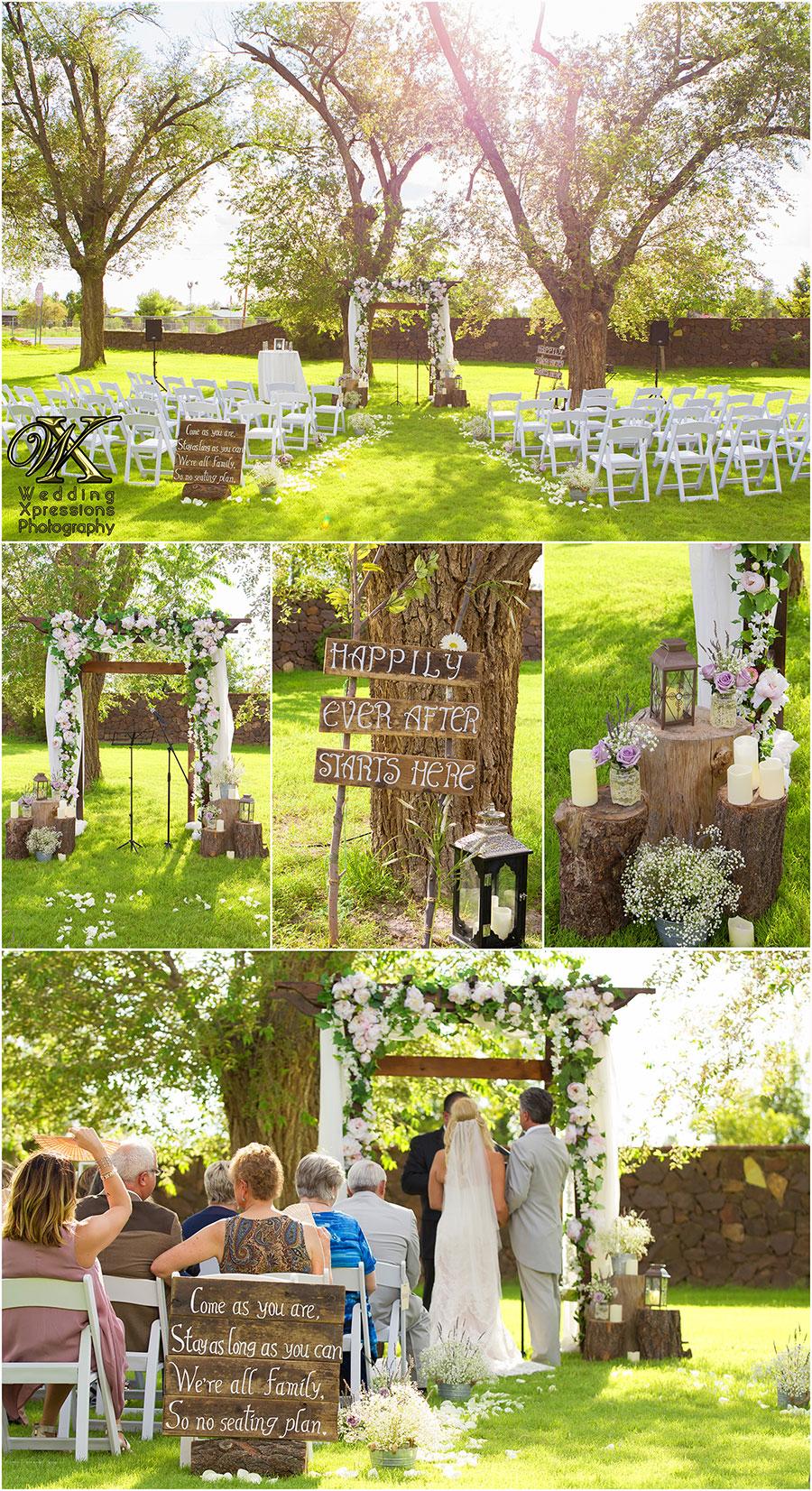 wedding ceremony at Los Portales