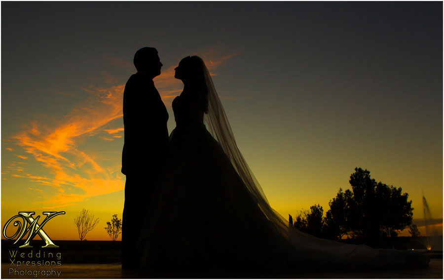 wedding silhouette at Grace Gardens