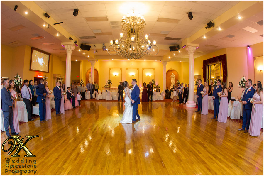 wedding first dance at Monte Carlo Hall in El Paso