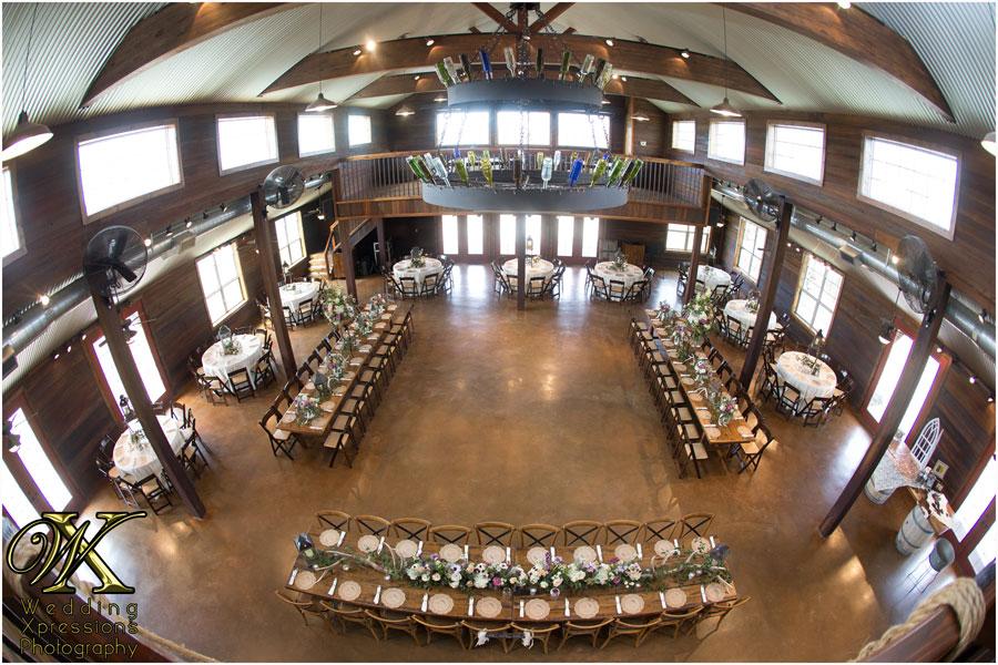 wedding setup at Thistle Springs Ranch