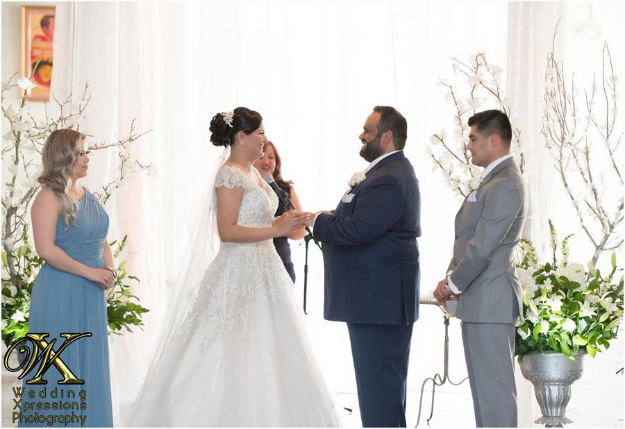 wedding ceremony at Epic Railyard