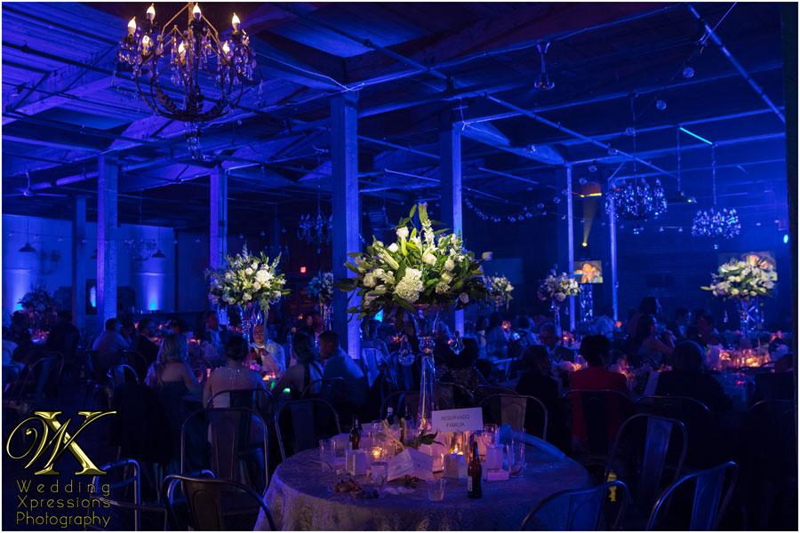 wedding setup at Epic Railyard Event Center in El Paso