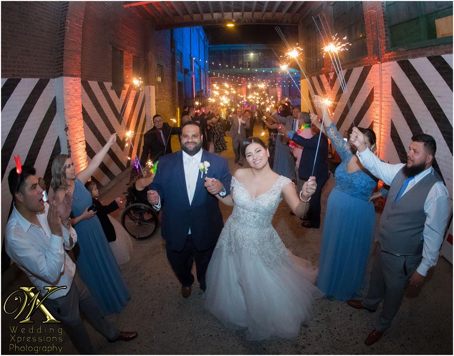 Wedding Xpressions Photography sparkler sendoff at Epic in El Paso