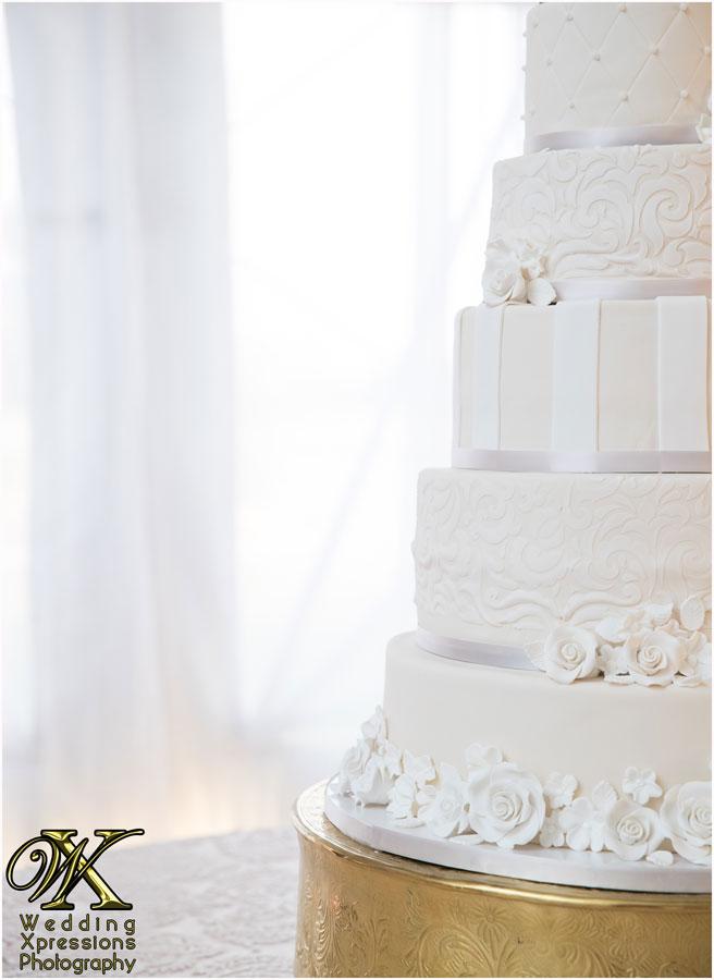 half of the wedding cake