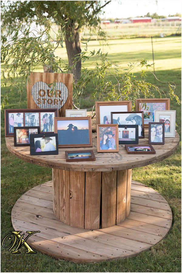 Our Story wedding table