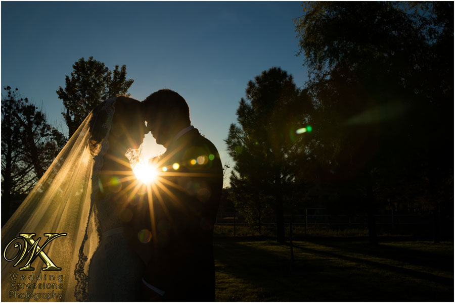 wedding sunset silhouette