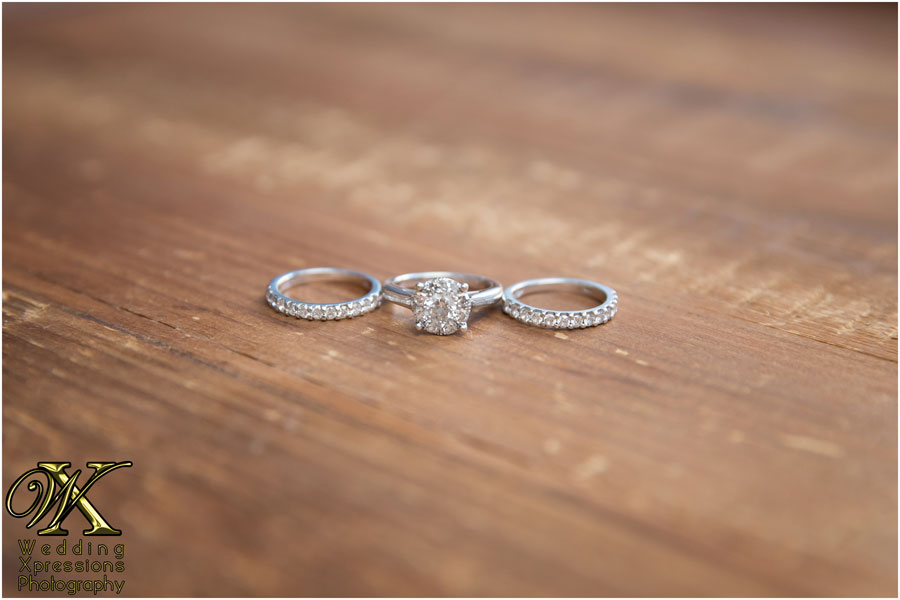 bride's wedding rings