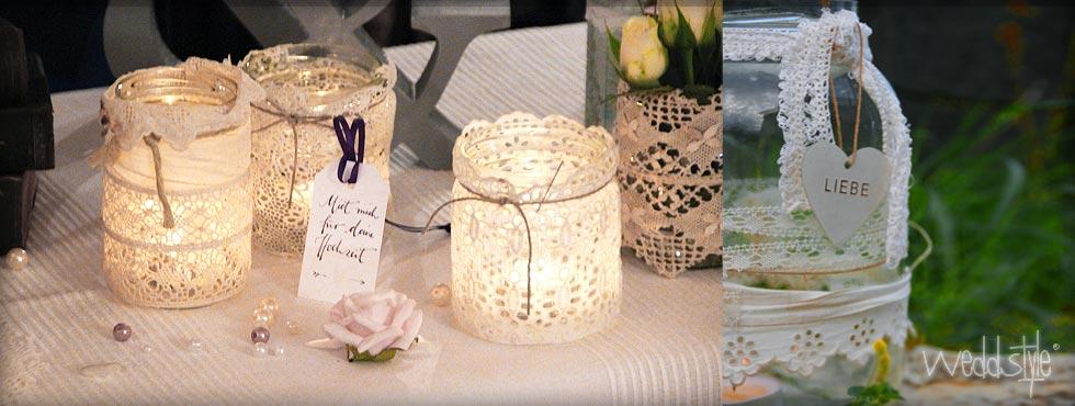 Vintage Windlichter  Teelichter mieten weddstyle