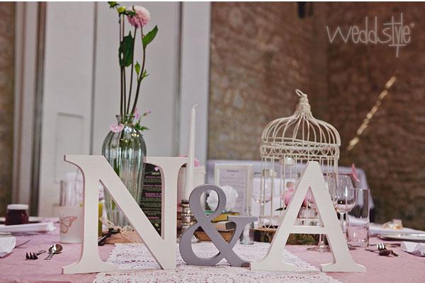 Buchstaben fr Hochzeit  Deko  weddstyle