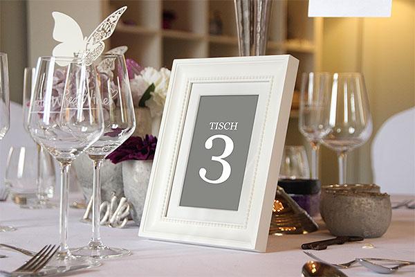 Tischnummern fr Deine Hochzeit mieten  weddstyle