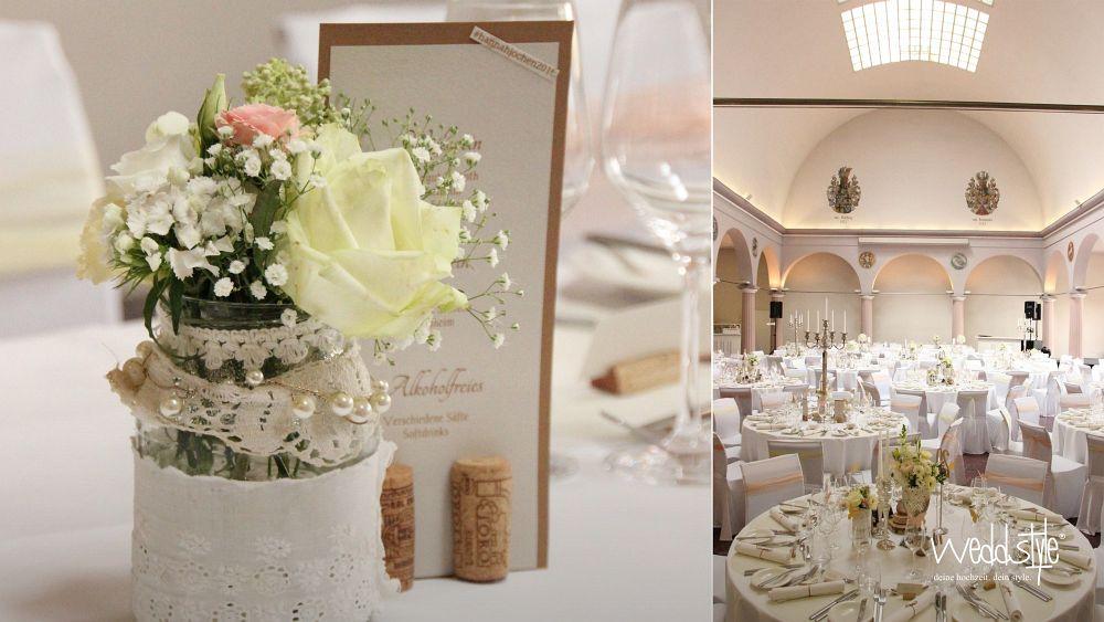 Hochzeitdeko  Hochzeit im Schloss Wachenheim  weddstyle