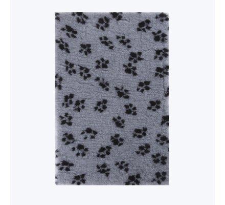 tapis pour chien hygienique anti humidite lavable 50x75cm gris motif pattes
