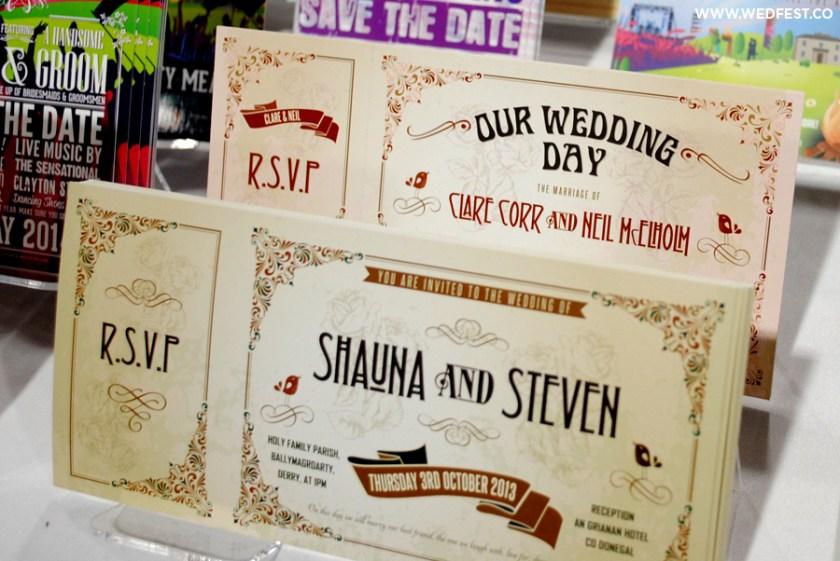 Wedfest Vine Chic Wedding Ticket Invitations