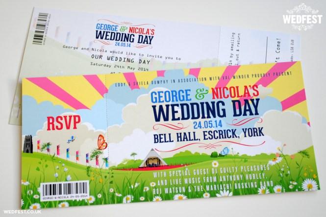 Festival Themed Wedding Invitations Wedfest